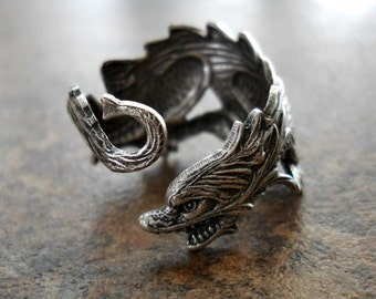 Dragon Ring in Silver, Sized to Order,Game of Thrones Ring