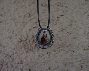Enamel Affirmed  Horse Jockey  Pin/Pendant Sterling Silver Equestrian Gifts,Horse Gifts
