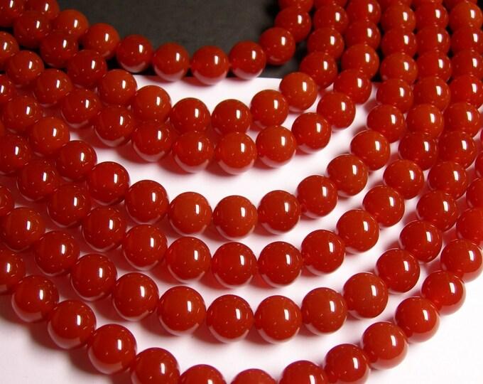 Carnelian - 10mm (10.4mm) -  full strand - 39 beads - full strand  - AA quality - RFG819