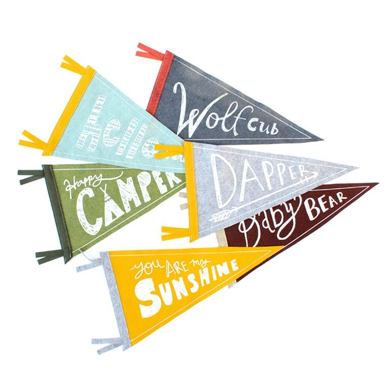 Design Your Own Banner: Design Your Own Pennant Flag Wall Decor Wool Pennant Flag
