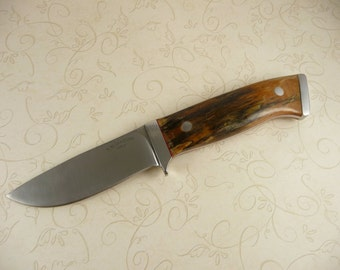 Drop Point Integral Knife With Spalted Tammerin Wood Handle
