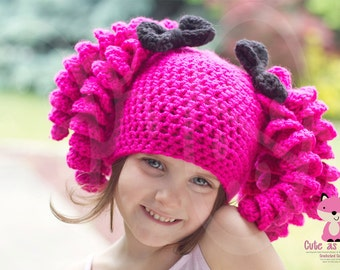 Lalaloopsy Inspired Crocheted Hat