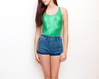 90s Dead stock Vintage Denim cut off Shorts Size XS
