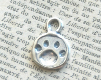 Sterling Silver Paw Print Artisan Charm - Add On For Design Your Own By Inspired Jewelry Designs