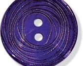 "JHB Buttons Aquifer 5/8"" Shell 2 Holes Purple Sewing Clothing Garment Button"