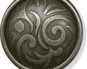 """JHB Buttons 3/4""""  Caribou Antique Silver Metal Fashion Button Shank Clothing Sewing Garment"""