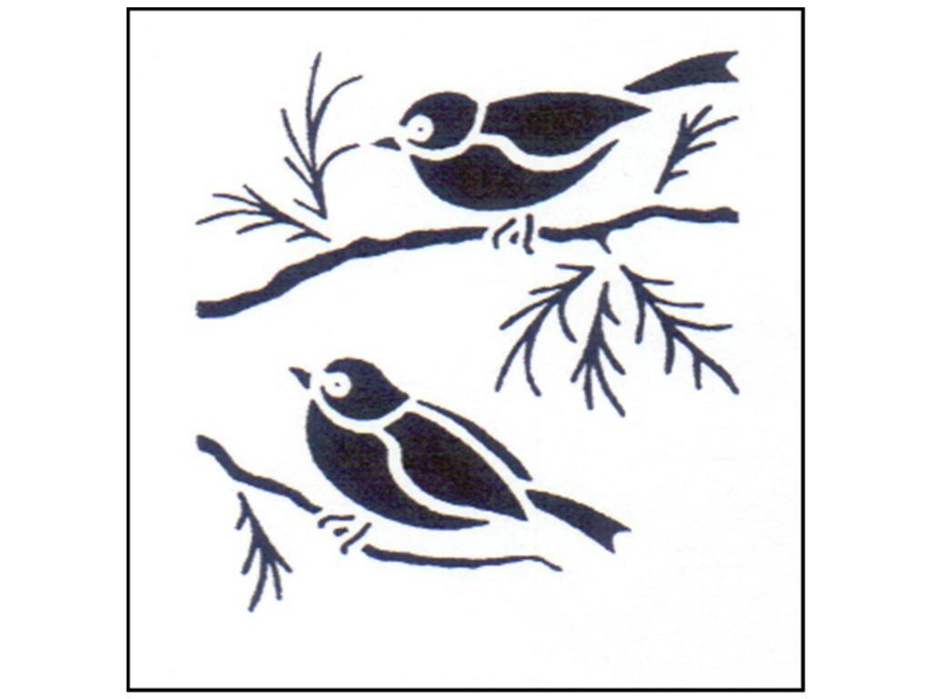 Oiseaux de moineaux stensource pochoir peinture artisanat for Pochoir oiseau