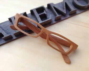 American cherry wood LOVE-WOOD eyeglasses brown frames glasses TAKEMOTO