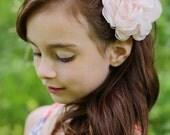 BLUSH PINK Peony Wedding Hair Flower, Blush Wedding Hair Flower, Pink Peony Hair Clip, Blush Peony Hair Accessory, Pink Bridal Accessories