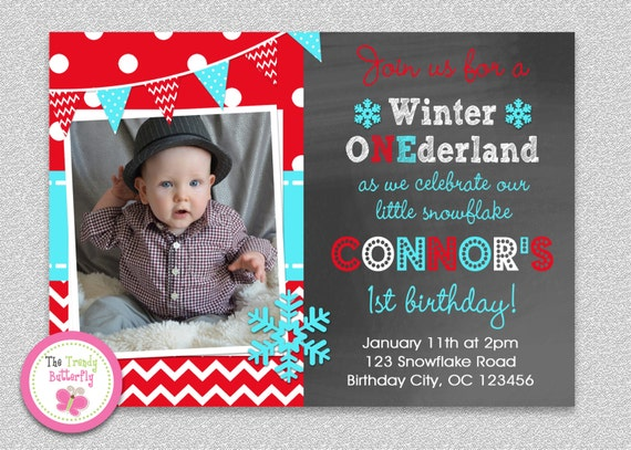snowflake wonderland invitation winter wonderland invitation, Birthday invitations