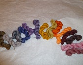 Madelinetosh tosh light 14 Mini Sock Skeins in Fingering weight 280 yards lot