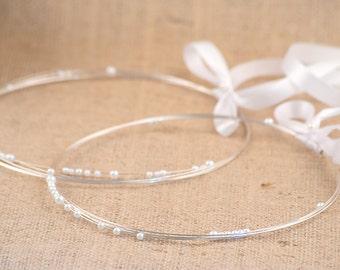 STEFANA Wedding Crowns- Orthodox Weddings - Bridal Crowns SILVER GHEA - One Pair
