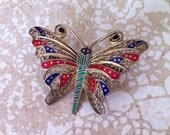 ooo Reserved for Maria ooo Antique cloisonné brooch by Topazio