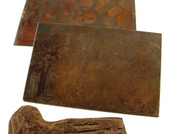 Vintage Printers Block - Copper Printing Plates - Collection of Three - vestiesteam epsteam thebestvintage