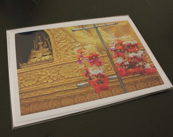 "Blank Photo Greeting Card, 7"" x 5"", 'Dai Buddah'"