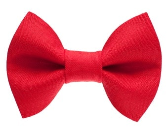 "Cat Bow Tie - ""The Boss Is In"" -  Red"