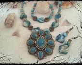 Turquoise Necklace,Turquoise Pendant, Turquoise Pendant Necklace, Easter Necklace, Easter Gift, Easter Jewelry, Turquoise Southwest Necklace