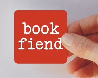 book fiend square magnet