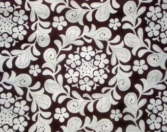 Meadowsweet Henna Garden brown Michael Miller Sandi Henderson fabric FQ or more