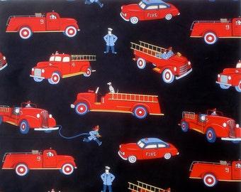 Vintage Fire Trucks Michael Miller fabric shy half yard