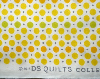 Croquet dots yellow DS Quilts Denyse Schmidt fabric  FQ or more