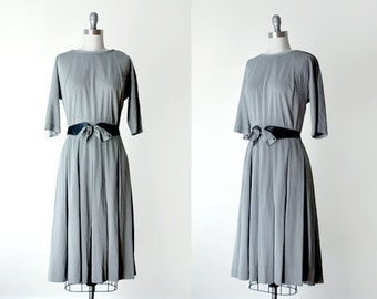 60's bow dress. 60 black & white dress. checkerboard. m dress. rockabilly dress. 1960's gray dress.