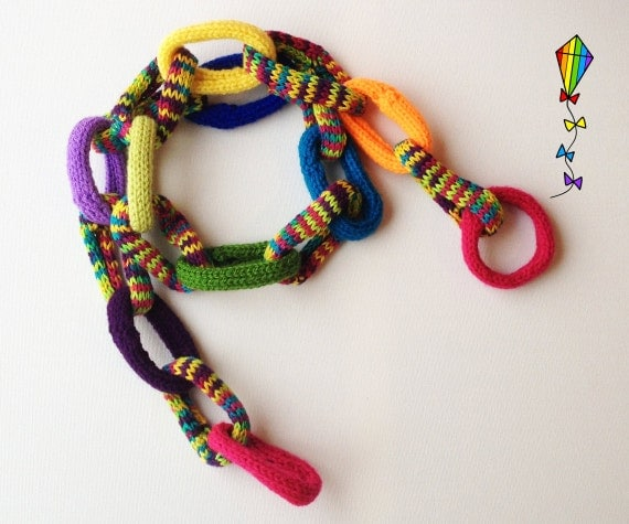 Chain Scarf for Kids - Jester - Childrens Scarf