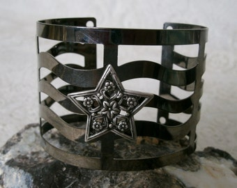 Elven Star Cuff Bracelet, wiccan jewelry pagan jewelry wicca jewelry goddess jewelry witch witchcraft metaphysical magic wiccan bracelet
