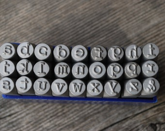 Single Letter Lowercase Typewriter Font 6mm LARGE -Lowercase- Steel Stamps for Metal -1/4 inch by Metal Supply Chick-Pick Letter