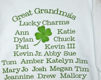 Great Grandma Sweatshirt, Custom Grandparent Gift, Lola, Nonna, Gama, Nene, Mamaw, Oma, Personalize With 32 Names, No Shipping Fee, AGFT 646
