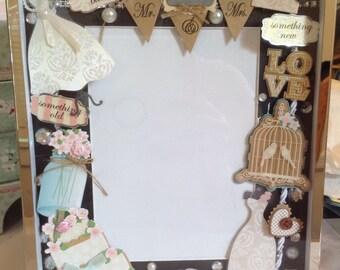 Bride picture frame