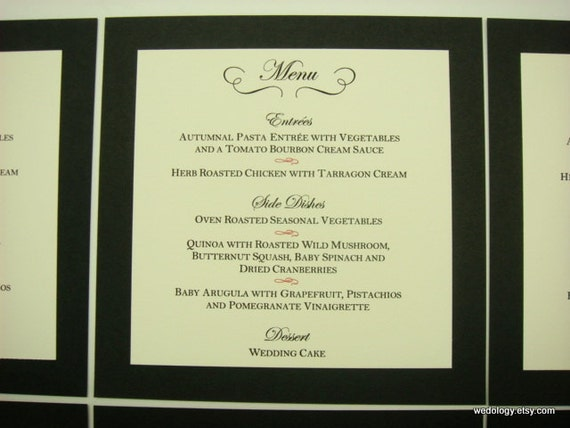 Wedding Reception Menu Card The Perfect Size To Be By Wedology