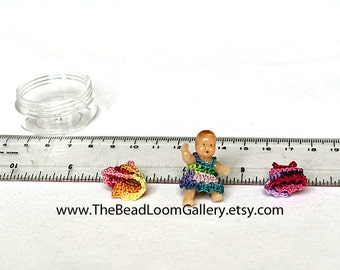 Dollhouse Miniature Doll with Spare Clothes