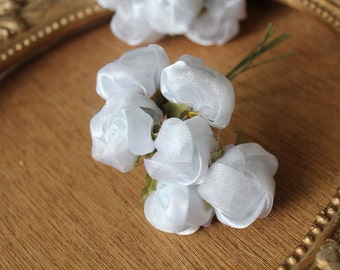 Cute  organza flower white   color 1 piece listing