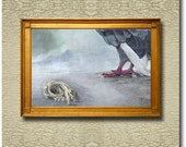 Contemplation on a Predator - Fine Art Print on heavy Cotton Canvas mounted on Stretcher Frame