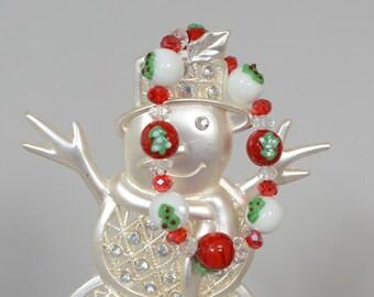 Christms Tree Lampwork Christmas bracelet