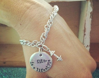 NEW-Fit is a Lifestyle Hand Stamped Bracelet