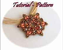 Beading pattern of beaded pendant Madra - PDF instructions, step by step