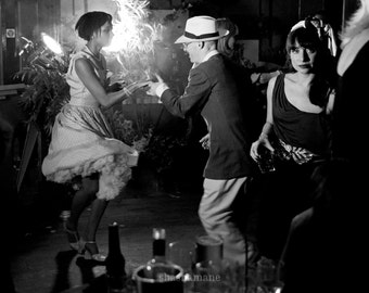It's a wrap 8x10 black and white, cinematic retro fine art photograph
