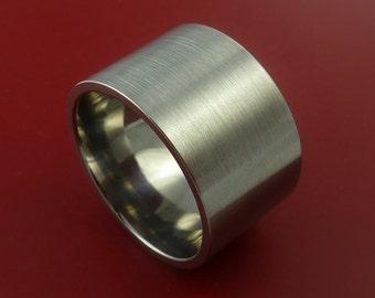 Titanium Wide Wedding Band Engagement Ring Made to Any Sizing and Finish 3-22