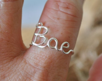 Adjustable Wire Ring BAE Ring Non Tarnish Silver Plated Wire