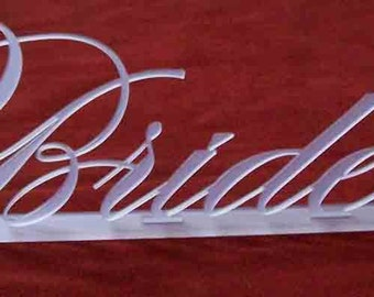 Bride and Groom Table Sign Premium Acrylic