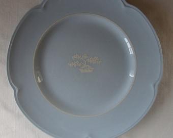 VINTAGE 1940s JOHNSON Brothers ENGLAND Grey Dawn Dinner Plate 9 Inch Plate Soft Pale Blue Elegant China Made In England By Johnson Brothers