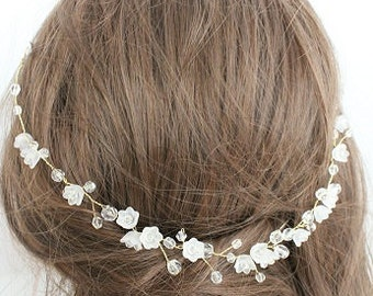 Bridal tiara, wreath, hairpiece, bridal accessories