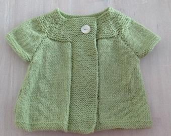 Beautiful Pure Wool Daisy Swing Cardigan...... handmade in New Zealand.