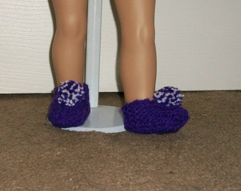 18 inch - Doll Slippers in Purple