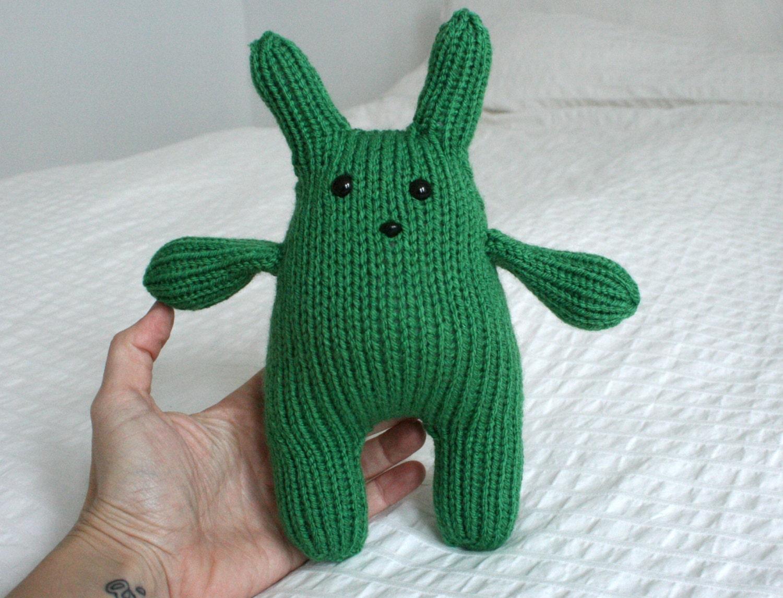 Squishy Bunny Etsy : Green Squishy Bunny