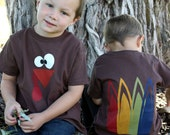 2T Turkey shirt with feathers on the back short sleeve Thanksgiving READY TO SHIP!