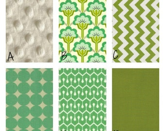 Design Your Own Green And Mint Nursery Bedding