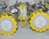 12 Baby Shower Favor Tags - Gray and Yellow - Boy or Girl Baby Shower Decorations - Gender Neutral Shower